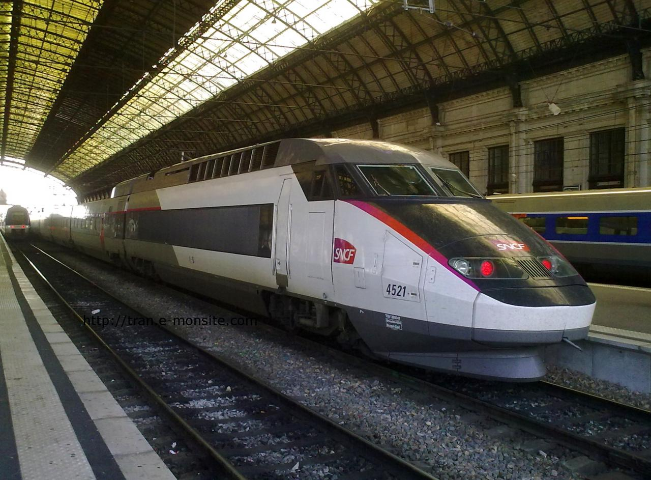 Nouvelle rame TGV 4521 Bruxelles-Midi le 02/09/2012