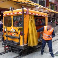 Draisine de chantier au Pérou