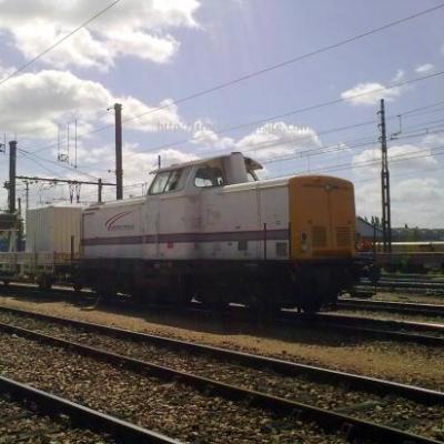 Locomotive V 211 de chez Pichenot Bouillé en gare de Saint Pierre des Corps