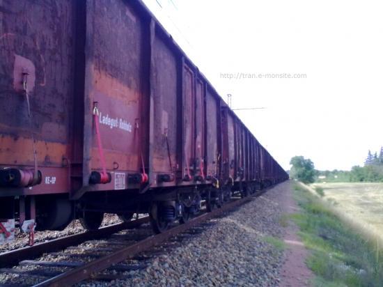 Train de bois vide en porvenance d'Allemagne