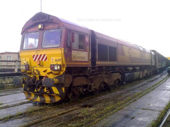 Class 66 de chez ECR en gare de triage d'Irun