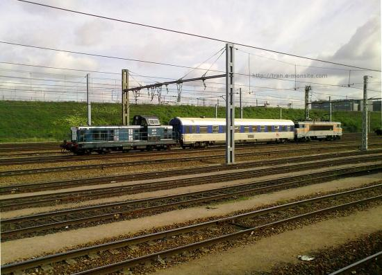 Train de mesure passant au triage de Valenton