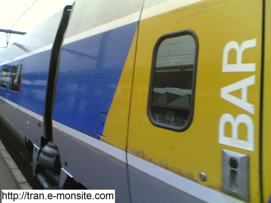Rame Bar d'un TGV Atlantique en gare de Saint Pierre des Corps