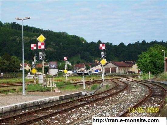 Gare situé sur la ligne Bordeaux/Sarlat avec signaux mécaniques