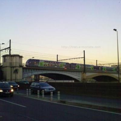 TER Rhône Alpes arrivant à Lyon Perrache