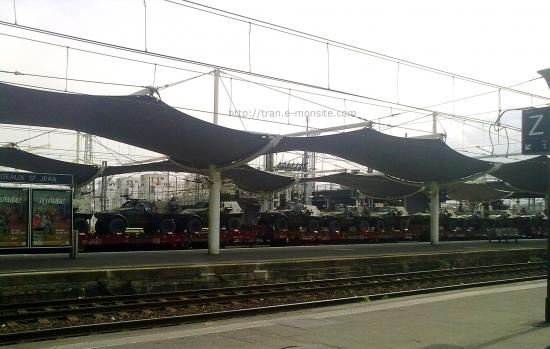 Train militaire en gare de Bordeaux