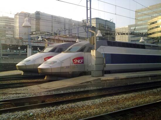 TGV en gare de Paris Montparnasse