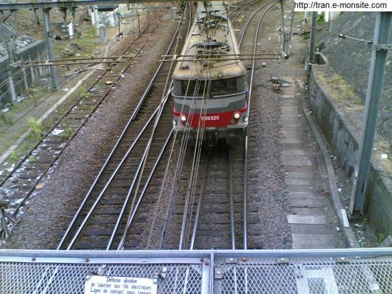 BB 509320 en sortie de la gare de Bordeaux St Jean