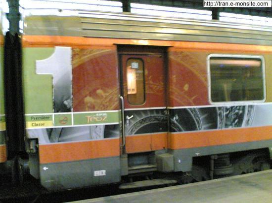 Wagons corail Téoz Bordeaux Nice 1er classe