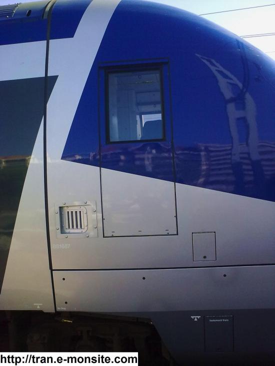 Autorail AGC B 81687 en gare d'Arcachon le 19/07/2009