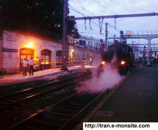 Train vapeur 141 TD 740 sncf en gare de Bordeaux