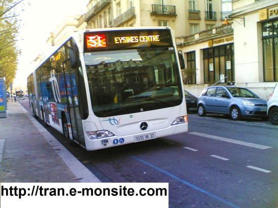 Autobus de la ville de Bordeaux