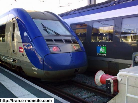 Autorail Z 21510 en gare de Bordeaux