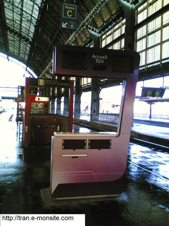 Nouveau comptoir d'accueil TGV