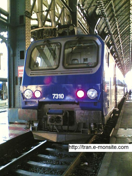 Autorail Z 7310 Aquitaine en gare de Bordeaux Saint Jean