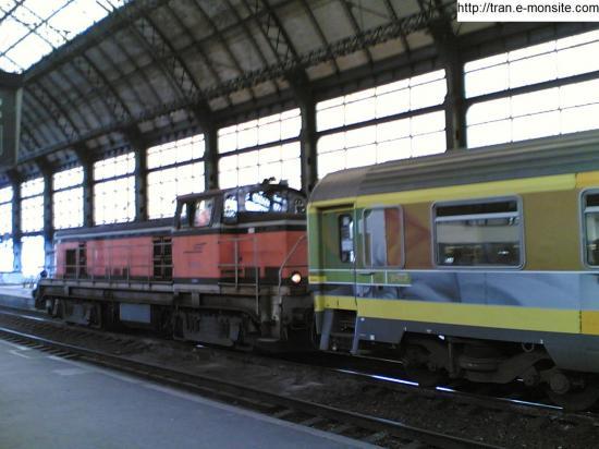 Préparation en gare de Bordeaux St Jean d'un train corail Téoz