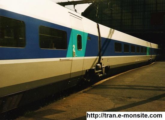 TGV Atlantique en gare de Bordeaux en 1997