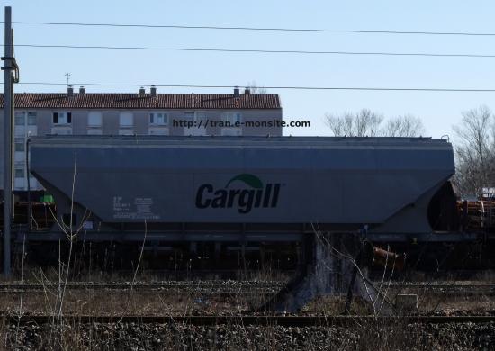 Wagon céréale de la société Cargill et de 94 m2 de capacité le 17/02/10