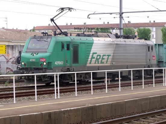 BB 427002 en tête d'un train de Bois le 20/04/2010