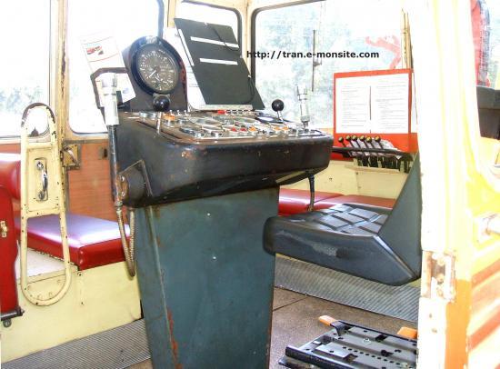 Cabine de conduite du train touristique de la pointe de Grave