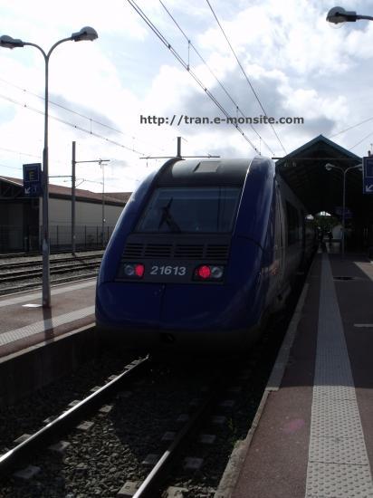 Autorail Z 21613 assurant le TER Aquitaine Arcachon Bordeaux