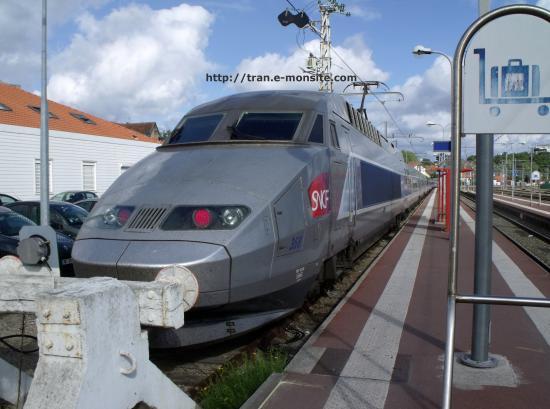 TGV Atlantique 368 en gare d'Arcachon