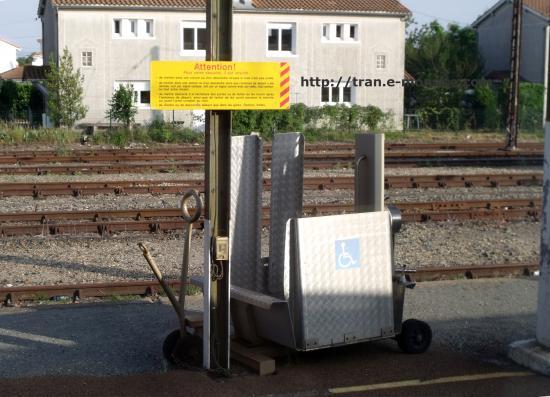 Système d'acces au train pour handicapés
