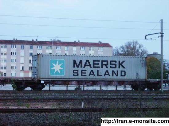 Wagon porte-conteneurs CNC avec conteneur Maersk Sealand