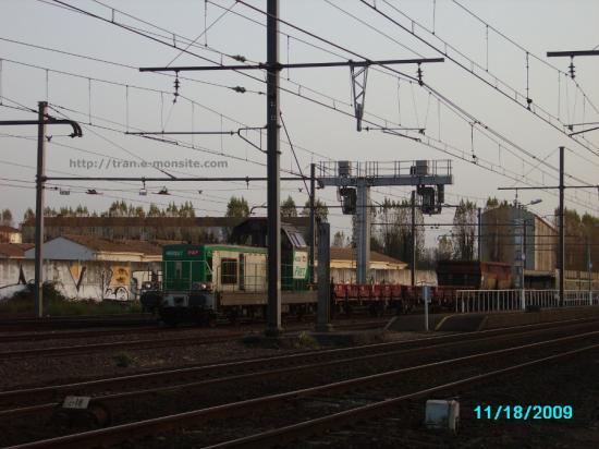 BB 69287 en manoeuvre en gare de Bègles à l'entrer du triage d'Hourcade