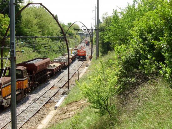 Train de chantier de renouvellement de voie