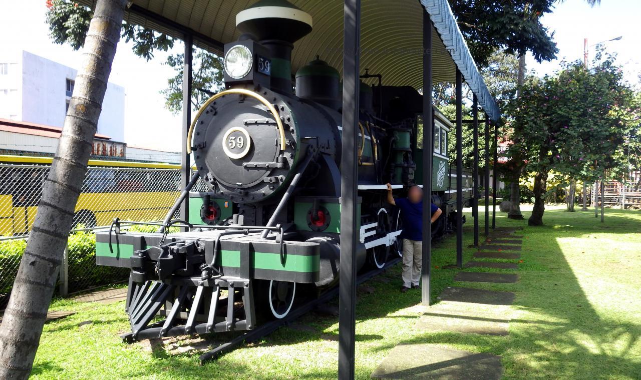 Ancienne Locomotive vapeur au Costa Rica