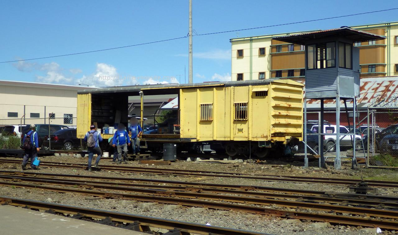 Wagon de chantier au Costa Rica