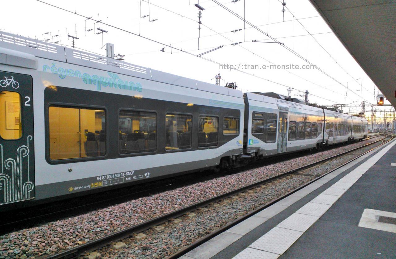 Nouvel Autorail RegiolisTer Aquitaine
