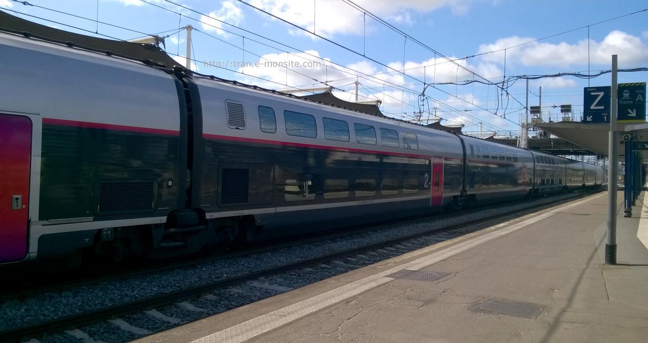 Wagon 2eme classe TGV Duplex en livré Carmillon