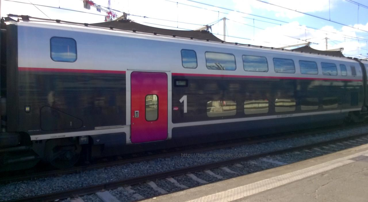 Wagon 1ere classe TGV Duplex en livré Carmillon