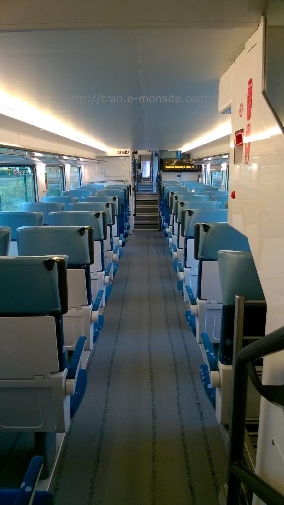 Intérieur du bas du Nouveau Autorail Regio 2N