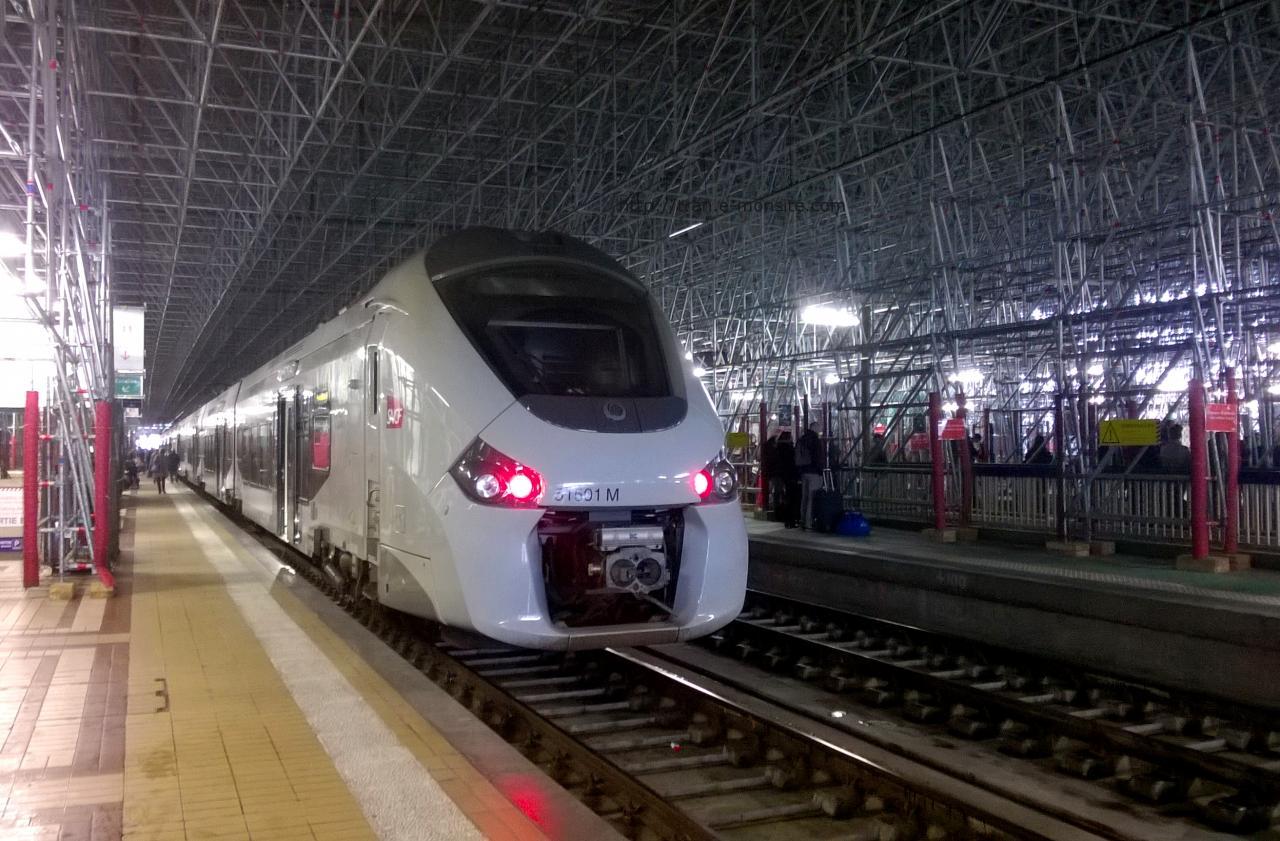 Autorail Régiolis 51601 en gare de Bordeaux
