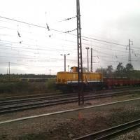 Train de travaux sur la base de Laluque