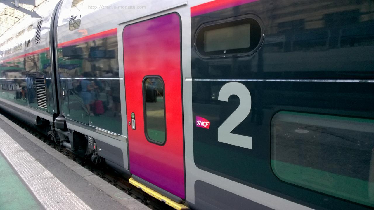 Wagon 2eme classe nouveau TGV l'Océane