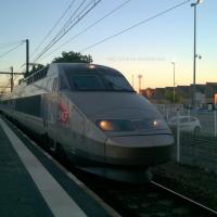 TGV Atlantique arrivant en gare de Saint Pierre des Corps