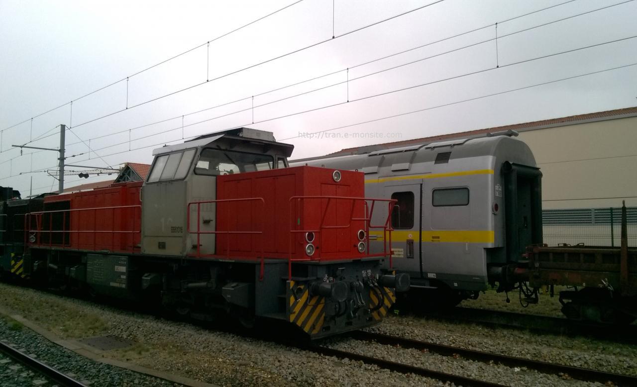 Locomotive G 1206 BB 61016 VFLI en gare d'Arcachon