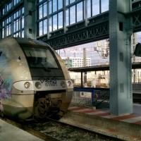 Autorail AGC B 81591 arrivant en gare de Bordeaux