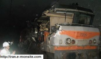 Accident du 20 mai 2009 sur la ligne Bordeaux Paris entre deux trains