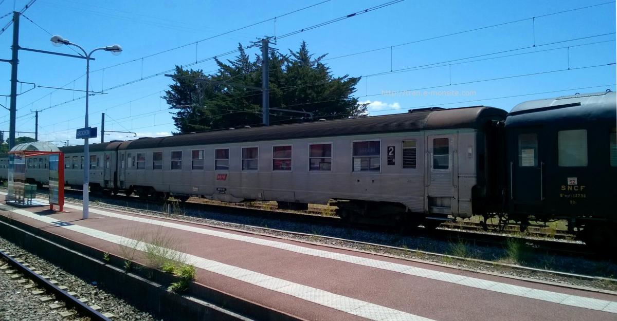 Train touristique en gare d'Arcachon